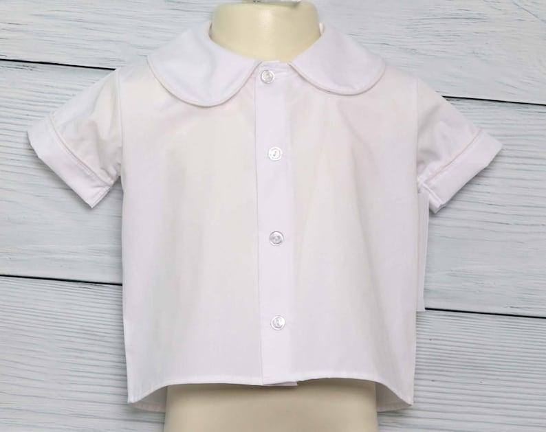 Toddler Boy Clothes with Peter Pan Collar Sibling Shirts or Baby Boy Dress Shirt Infant Boy Shirt 291804
