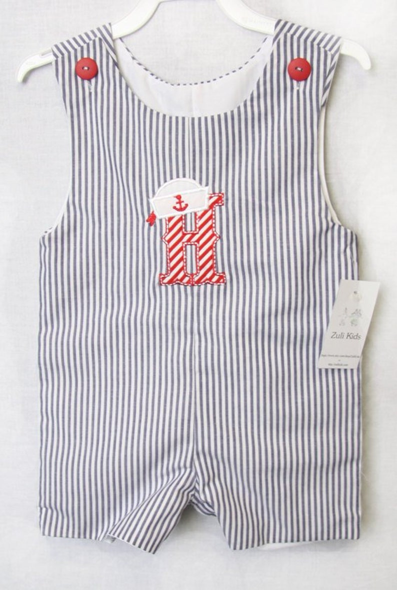f3870cf0b Baby Sailor Outfit with Personlization Boys Sailor Outfit in