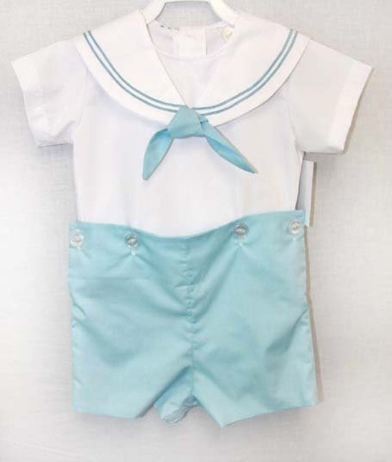 1490ffcab Baby Sailor Outfit with Tie Boys Sailor Outfit in Navy Boys