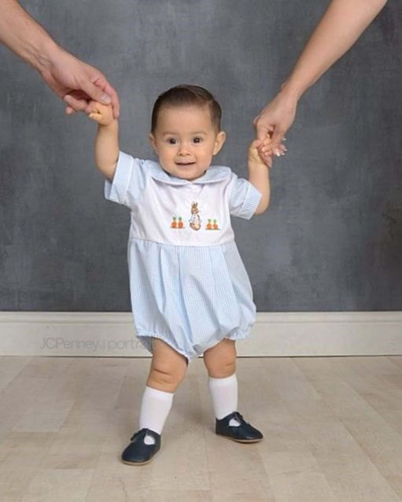 Boys' Clothing (newborn-5t) Boys Baby Blue Handmade Peter Rabbit Romper 18-24 Months Easy And Simple To Handle