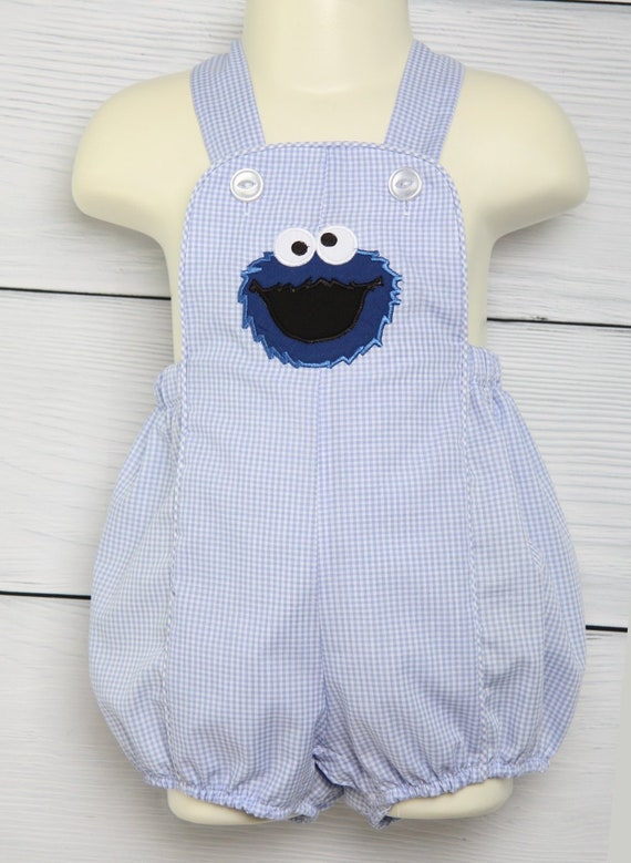 Cookie Monster 1st Birthday Outfit Baby Boy First Birthday