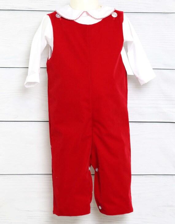 image 0 - Velvet Romper Baby Boy Christmas Outfit Toddler Boy Etsy