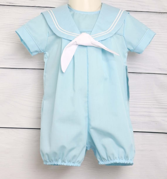 54ae2d274edc Baby Sailor Outfit with tie Boys Sailor Outfit in Navy Boys