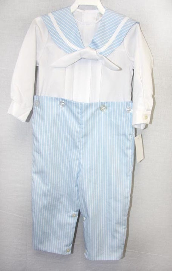 9e0dc4bed09 Baby Sailor Outfit with tie Boys Sailor Outfit in Navy Boys