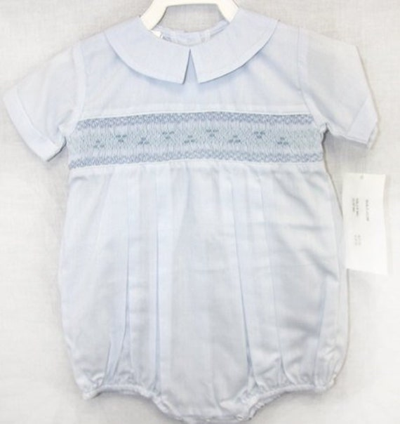 eb738d238ca0 Smocked Clothes Baby Easter Outfit with Blue Smocking Boy