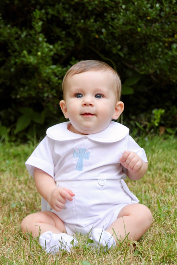Boys Ivory Christening /& Baptism Outfit Baby Blessing Suit 8475