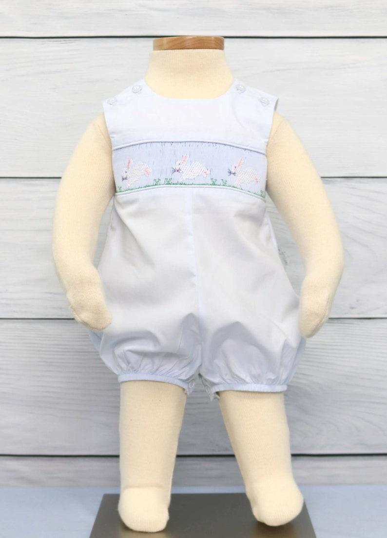 c5ad11546 Easter Bunny Romper for Boy Babys First Easter Boys Easter | Etsy