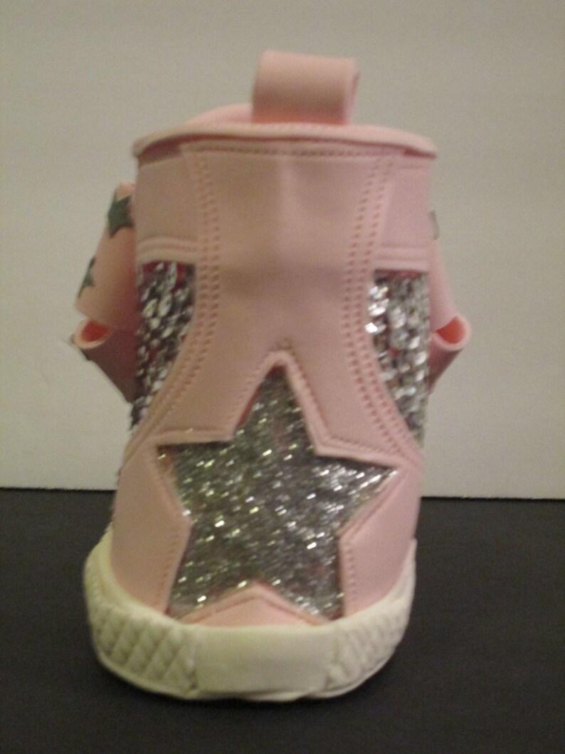 high top sneaker cake topper girls tweens sequins glitter sparkle gum paste sugar