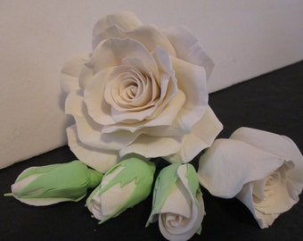 sugar flowers choose your color in stock rose rose buds gum paste sugar edible cake topper mothers day wedding bridal