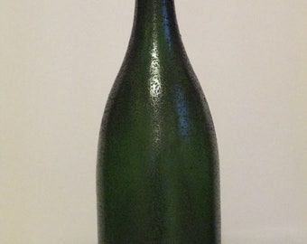 champagne bottle cake topper sugar edible wedding bridal anniversary celebration green edible sugar isomalt