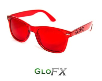 f8a6fa844b GloFX Red Color Therapy Glasses Chromatherapy Sunglasses with UV400  Protection Feelings of Vitality   Power High-Quality PVC Frame