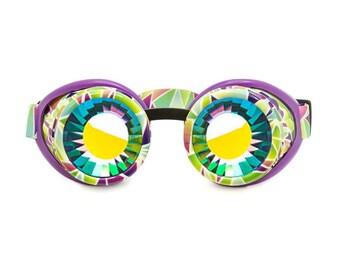 FORUU Glasses Colorful Rave Festival Party EDM Sunglasses Diffracted Lens