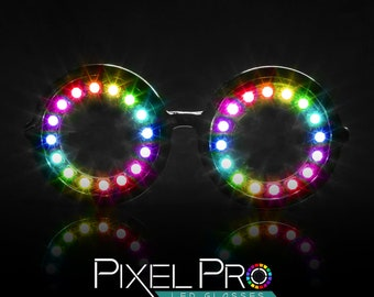 7d4b03dc415 GloFX Pixel Pro LED Glasses 350 Modes Rainbow Colors Full Spectrum Super  Bright Cool Effects Strobing Modes Rave Eye Costume EDM Party