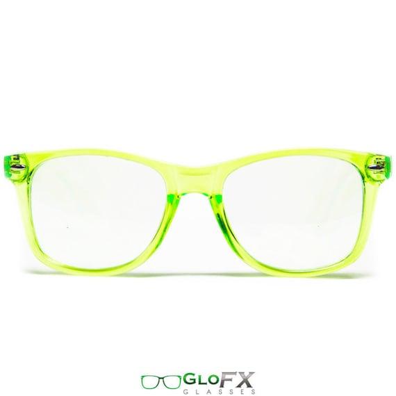 e2ad9d469af3 GloFX Diffraction Glasses Transparent Green Ultimate Flex