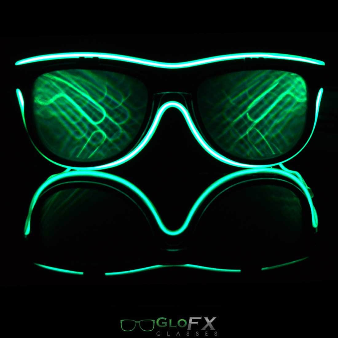 5f8a1a050866 Double Diffraction Glasses Luminescence LED Glasses Party