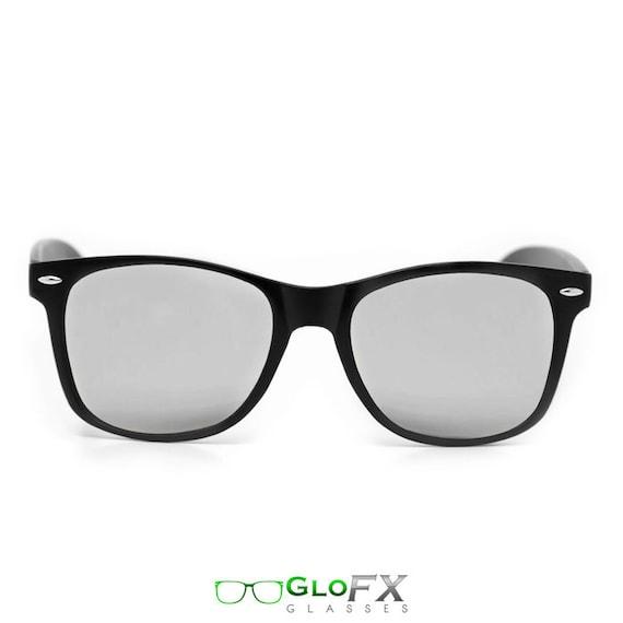 b8e6ce13313b GloFX Diffraction Glasses Matte Black Silver Mirror