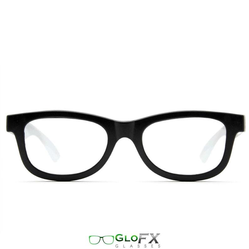 5ef8d732de Lentes de difracción negro rejilla luz gafas óptica | Etsy