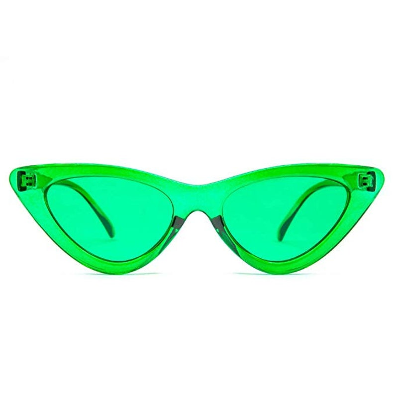 74dd815787 GloFX Cat Eye Color Therapy Glasses Green Chakra Mood