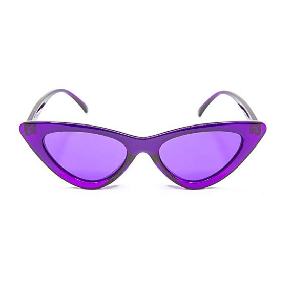 0bd333c31b GloFX Cat Eye Color Therapy Glasses Violet Chakra Mood