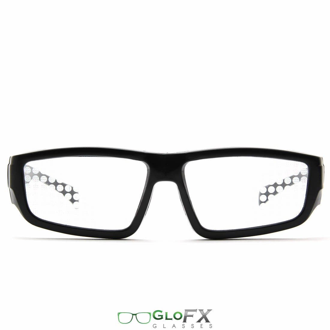 e1be86de814a GloFX Spiral Diffraction Glasses Standard Black Sunglasses
