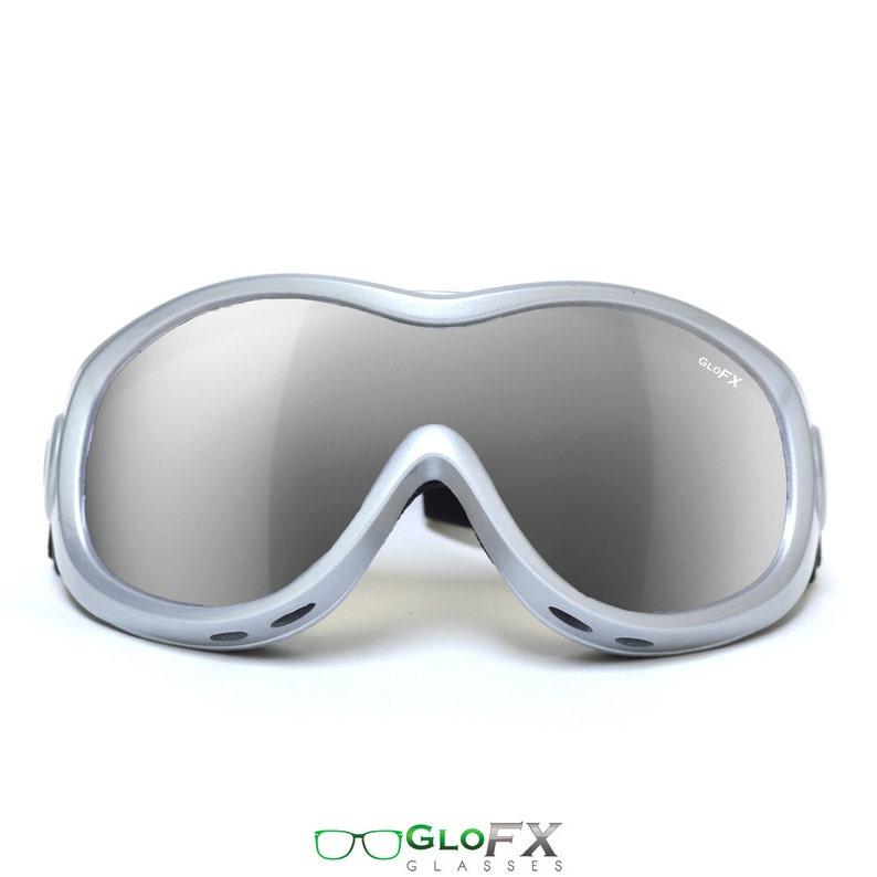 4162bc029ebc GloFX Diffraction Ski Goggles Glare Reducing Silver Mirror