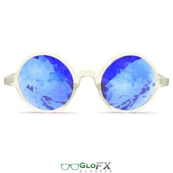 GloFX Clear Kaléidoscope lunettes saphir lentilles en verre   Etsy 3e8df8ac2ab2
