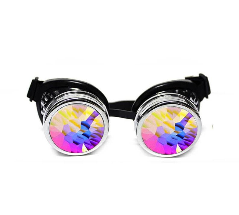 5369cffbdd13 GloFX Kaleidoscope Padded Goggles High Quality Chrome