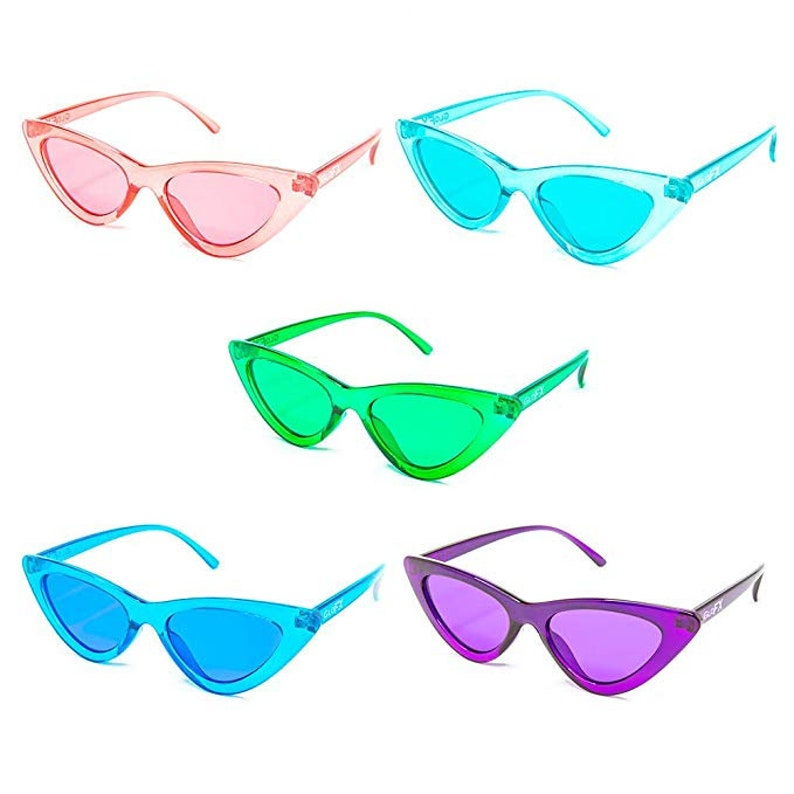3d1cc92d19e GloFX Cat Eye Color Therapy Glasses 5 Pack Chakra Mood