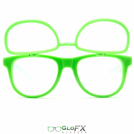 GloFX matrice Diffraction lunettes lunettes Rave vert   Etsy 990ef11b73ac