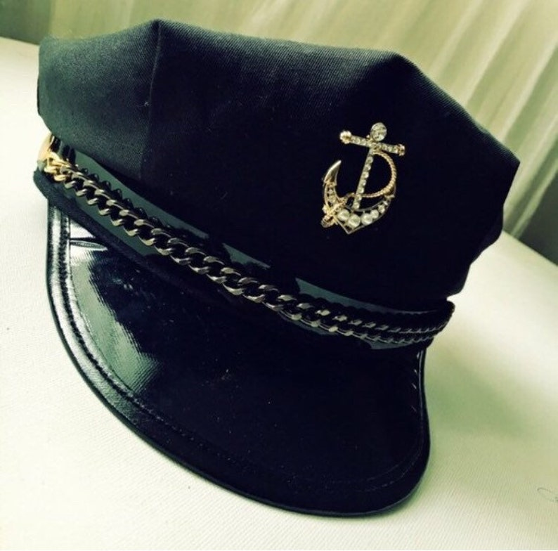 c812c5dccf62d New Military Navy Sailor Captain Hat with Super Cute Tuck