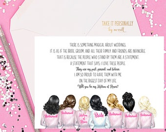Will you be my bridesmaid card bride tribe card be my bridesmaid invitation bridesmaid proposal