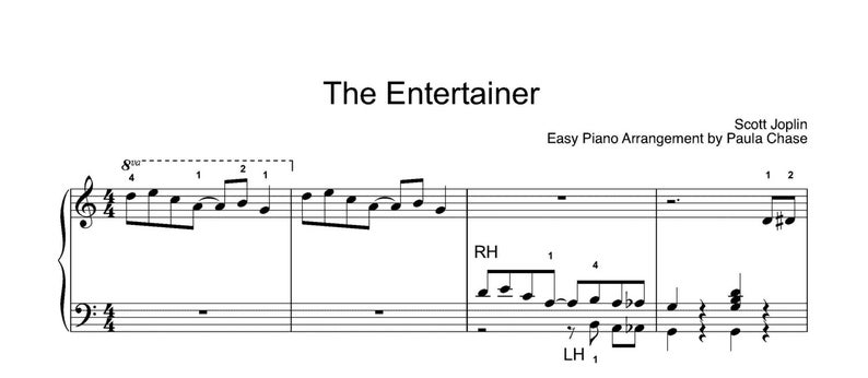 The Entertainer  Easy Piano arrangement Level C image 0
