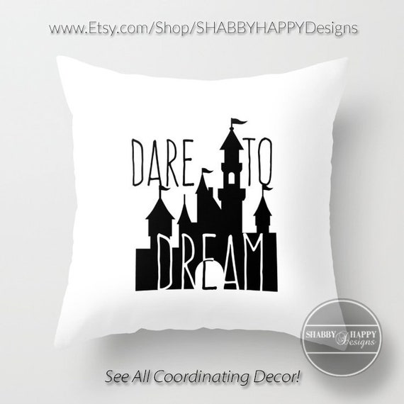 Dare To Dream Quote Art Pillow Zippered Cushion Case Cover Etsy