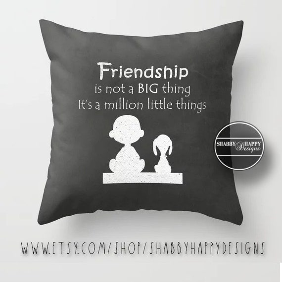 Silhouette Friendship Quote Pillow Zippered Cushion Case Cover Etsy