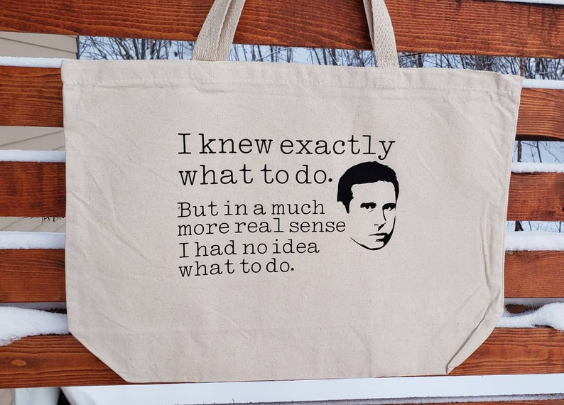 Canvas Bag Shopping Bag Tote The Office Michael Scott Gym Bag Funny Reusable Bag