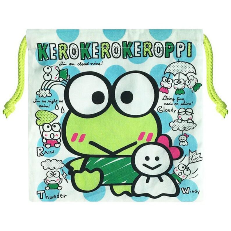 KEROKERO KEROPPI Otenki-Genki Cotton Pouch SANRIO Japan