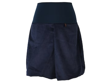 76618580f Skirt Bubble Skirt Cord blue Size D 46 US 16 Dark Blue CordSkirt Woman  Balloon