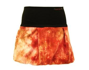 8bdb9e114 Bubble Skirt Cord Mini Samtcord miniskirt batik Terra Brown skirt Ultramini  Woman