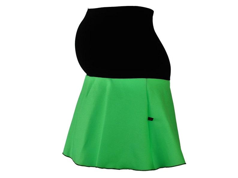 ff5e89ac78727 Maternity skirt jeans green mini skirt denim skirt pregnancy | Etsy