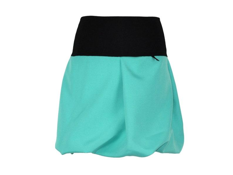 Bubble Skirt mini Turquoise Green Green turquoise miniskirt A-line Bubble Woman