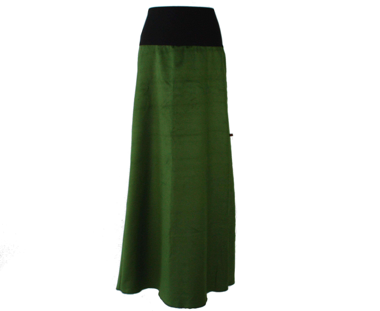 7fab40b8f Maxi skirt Cord Green CordSkirt corduroy long skirt Woman | Etsy