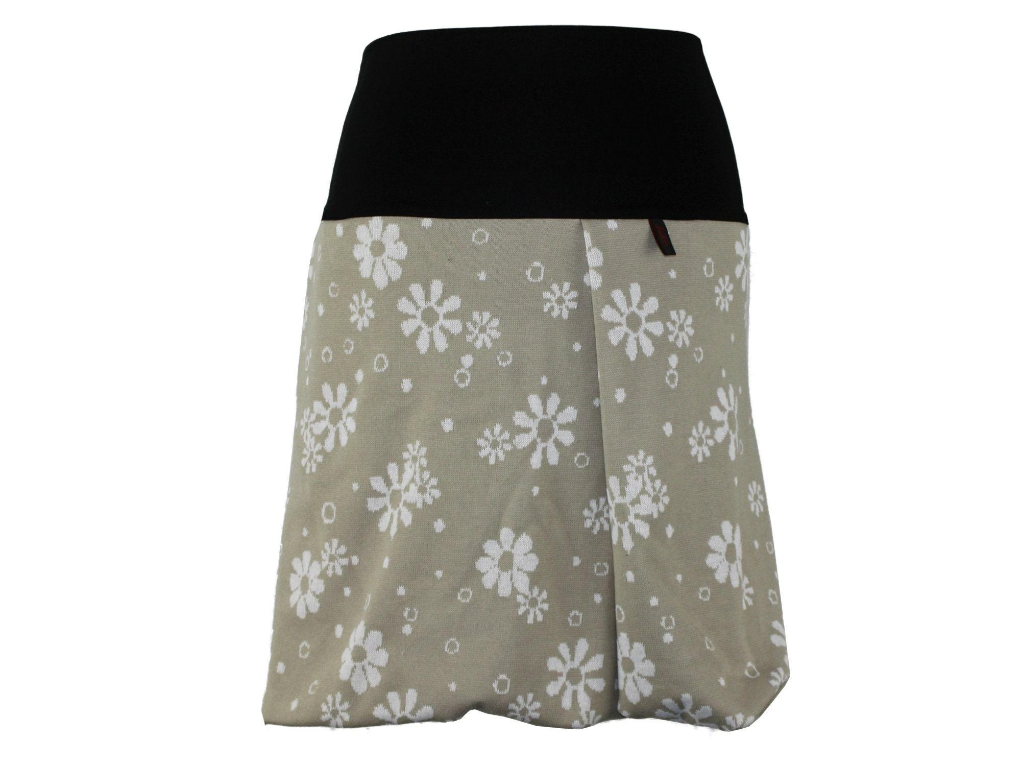Skirt Bubble skirt knit beige beige beige blanco flower knit skirt midi MidiSkirt Woman Balloon c1f1d3