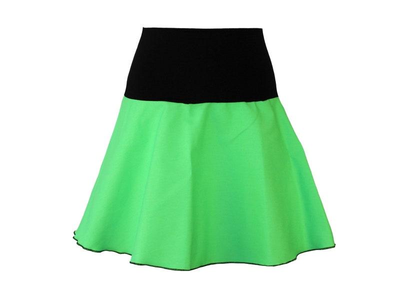 4e459e0bd Denim skirt Mini green skirt skirt A-line skater bell skirt | Etsy