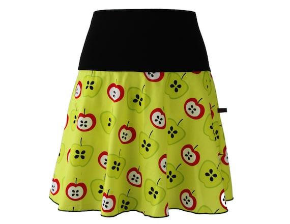 Black mini skirt A-line skater bell skirt cotton cotton skirt colorful Woman