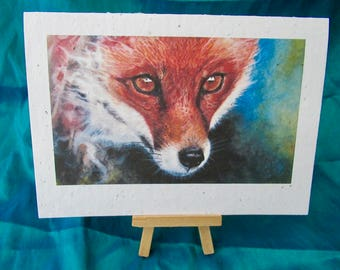 WILDFLOWER SEEDED PAPER Fox Greetings Card