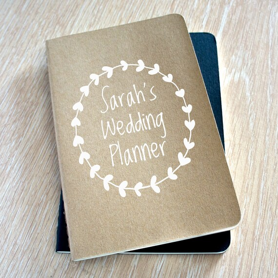 Personalised Wedding Planner Book Wedding Planner Organizer Etsy