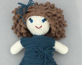 Gracie Dolly - 15 inch tall - crochet pattern