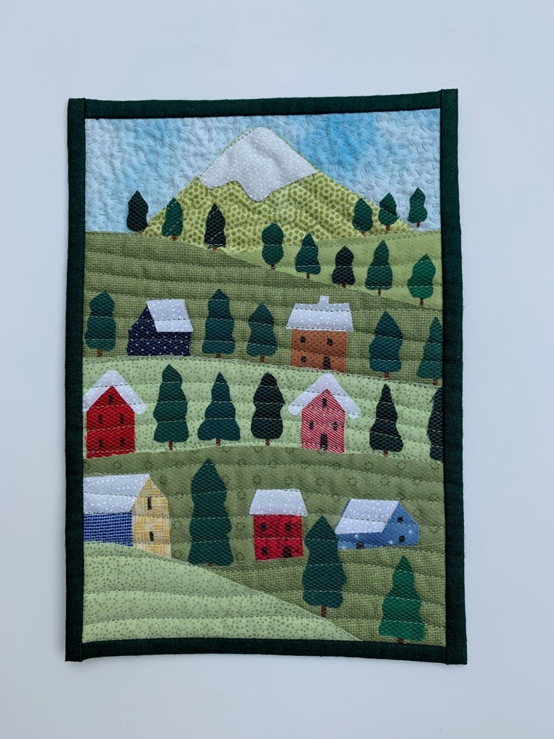 Snow on the Rooftops Miniature Quilt Pattern