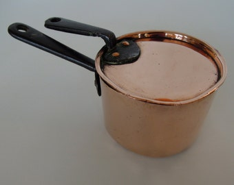 Rare Small Copper Pan with Lid, England CA. 1850