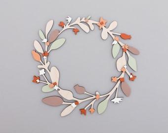 Christmas Wreath - Wooden Wreath - Wooden Christmas Wreath - Christmas decoration - Holiday ornament